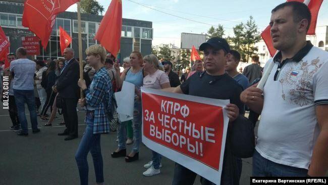 polityka : Komuniści za uczciwe wybory!