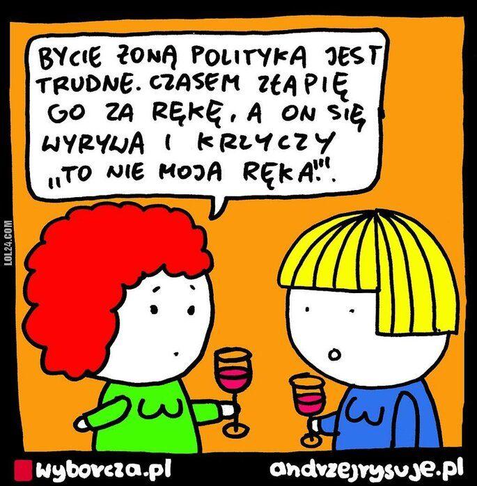 satyra : Bycie żoną polityka jest trudne