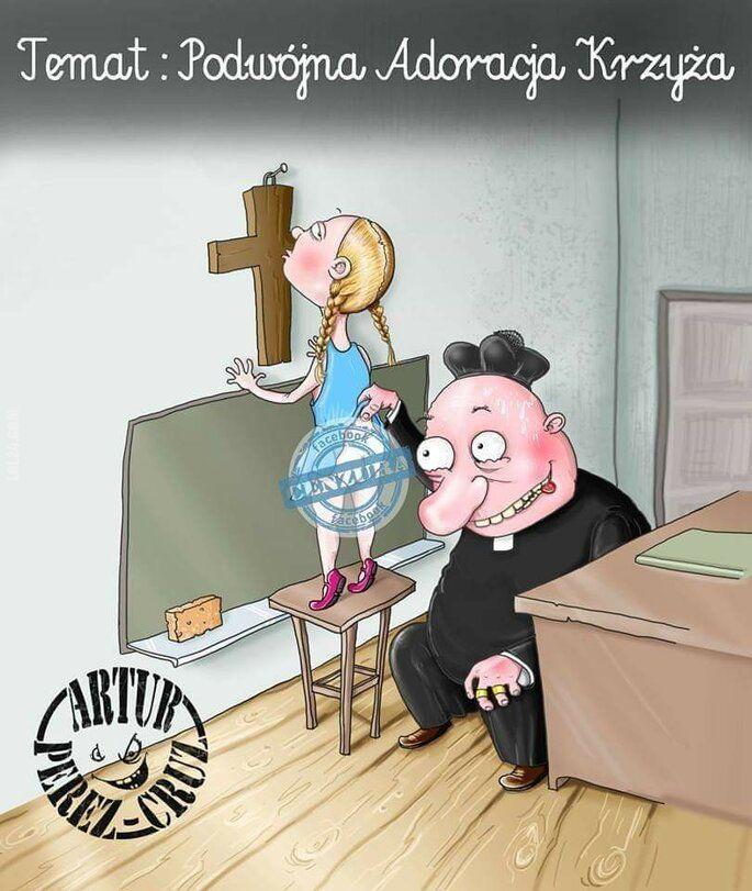 rysunkowa : Podwójna adoracja krzyża