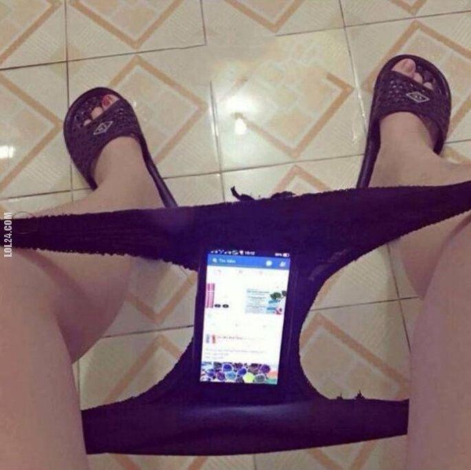 technologia : Uchwyt na telefon w toalecie