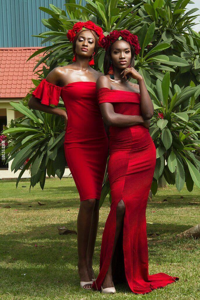 kobieta : Czarne i czerwone