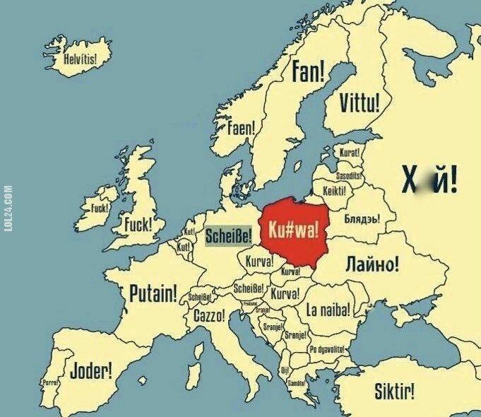 napis, reklama : Najpopularniejsze przekleństwa w europie