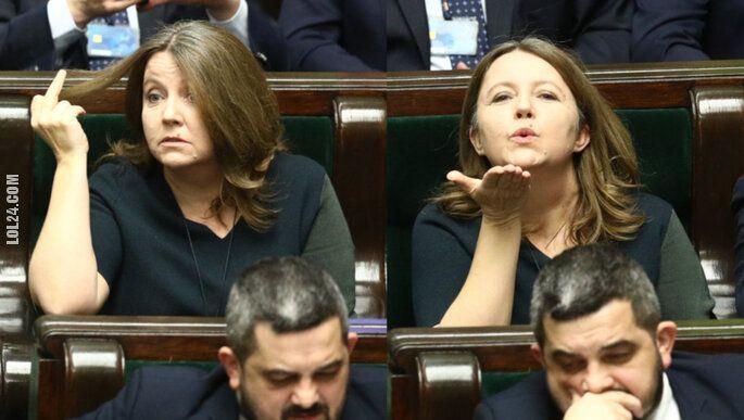 polityka : Niewinne gesty posłanki Joanny Lichockiej w sejmie