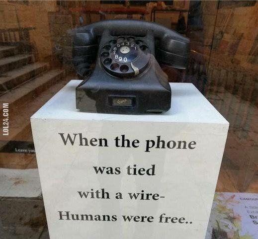 technologia : Telefon dawniej.