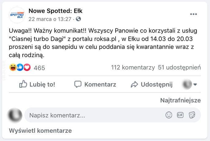 "napis, reklama : ""Ciasna turbo Daga"" z roksy"