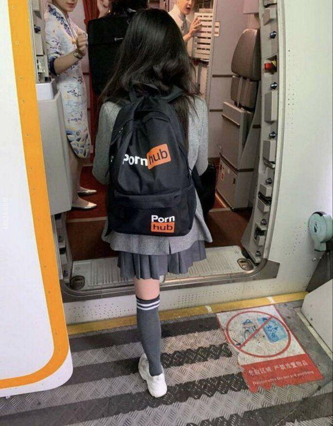 napis, reklama : Markowy plecak