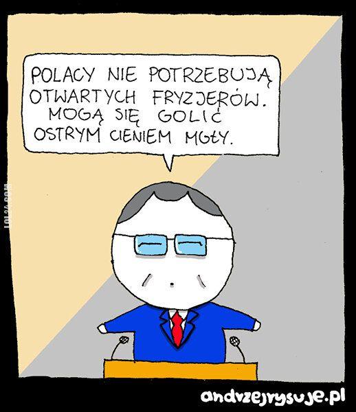 satyra : Polacy nie potrzebująotwartych fryzjerów