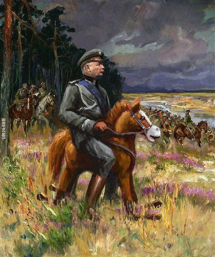 rysunek : Prawie jak Piłsudski