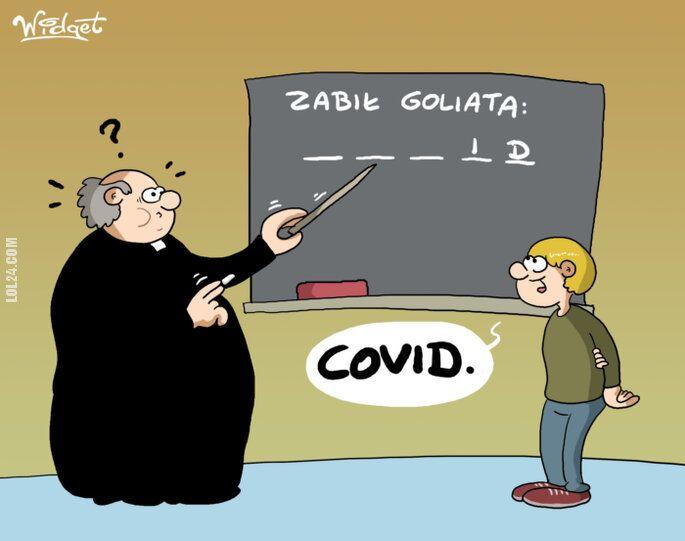 rysunek : Zabił Goliata