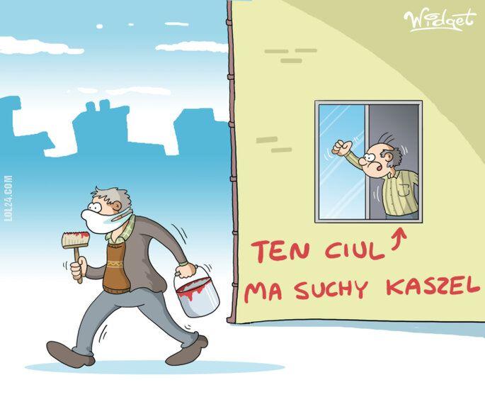 rysunek : Kaszel