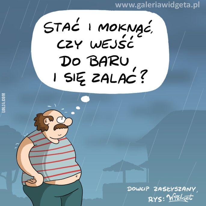 rysunek : W deszczu