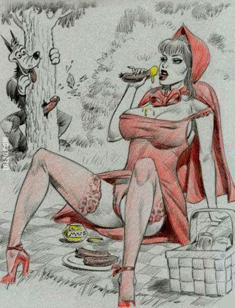 rysunek : Czerwony kapturek 114