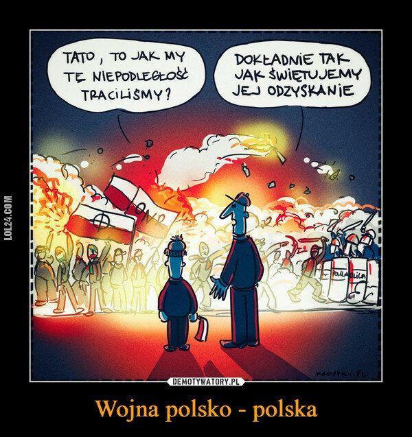 demotywator : Wojna polsko - polska