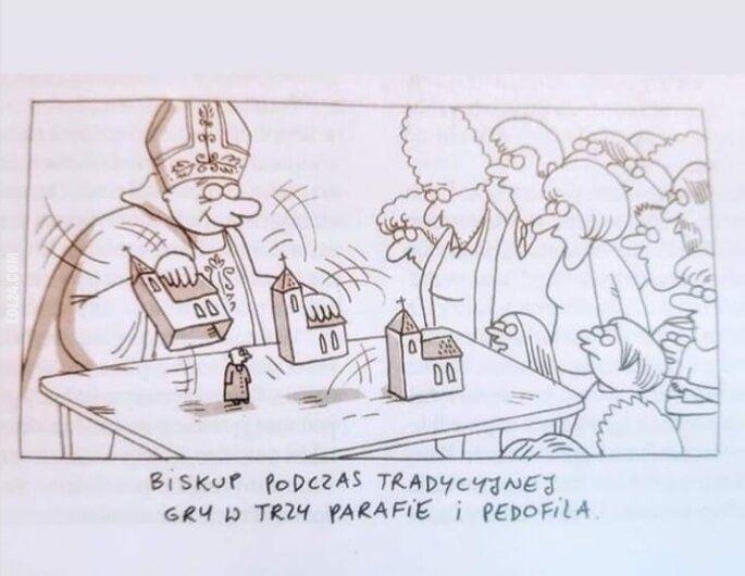 satyra : Kościelna gra w trzy parafie