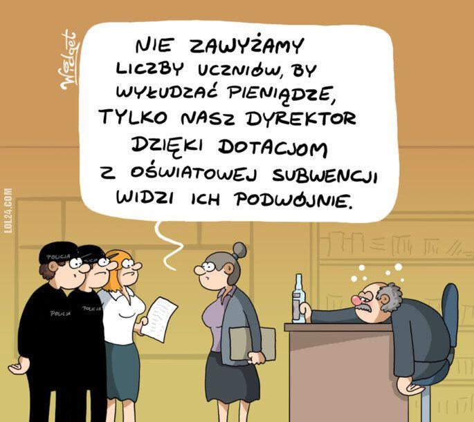rysunek : Nawalony dyrektor