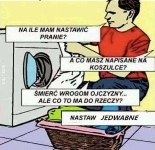 technologia : Pranie w pralce