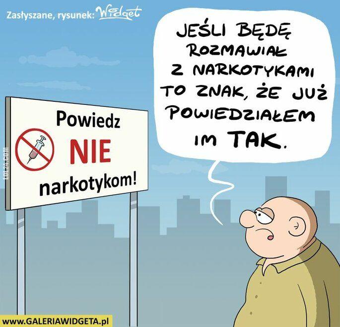 rysunek : Powiedz NIE narkotykom!