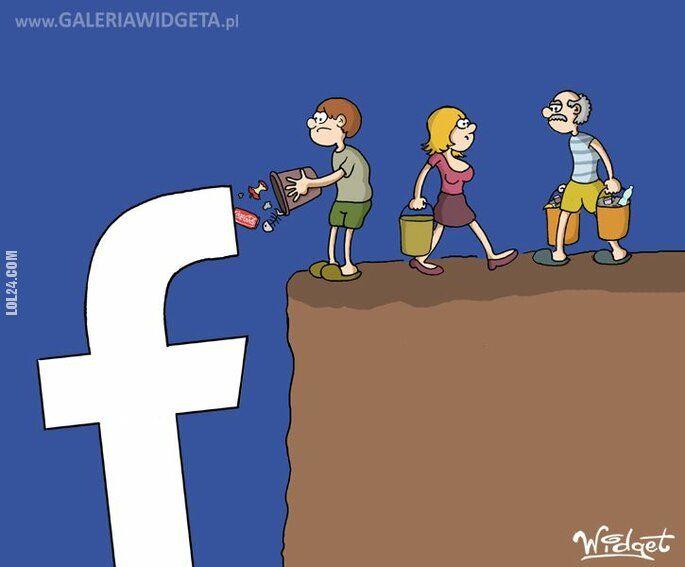rysunek : Facebook-śmieci