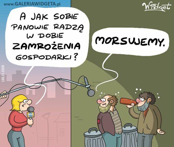 rysunek : Zamrożenie gospodarki