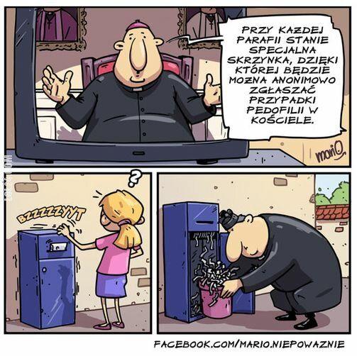 komiks : Skrzynka przy parafii