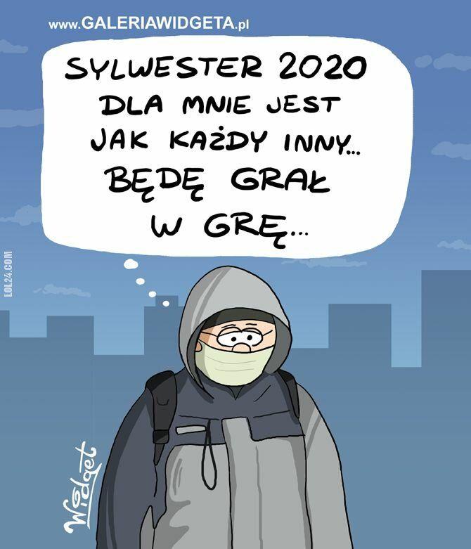 rysunek : Sylwester 2020 jak kazdy inny