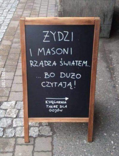 napis, reklama : Zaproszenie do księgarni