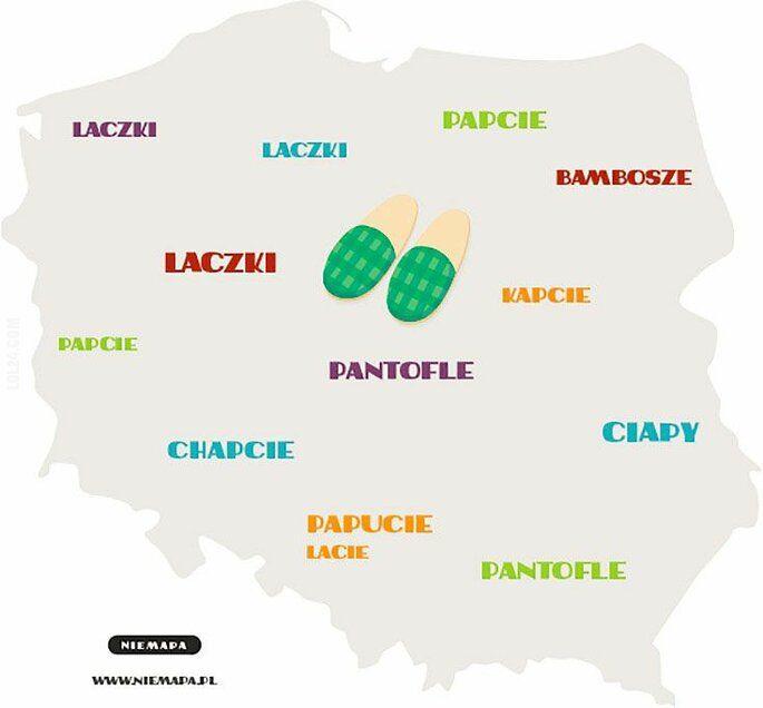 inne : Jak się mówi na kapcie w różnych miejscach w Polsce: