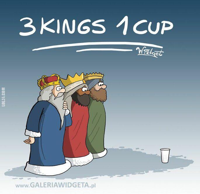 rysunek : 3 kings 1 cup