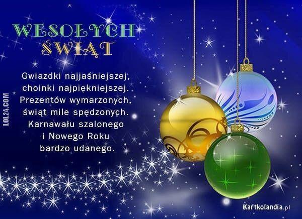 napis, reklama : Wesolych świąt