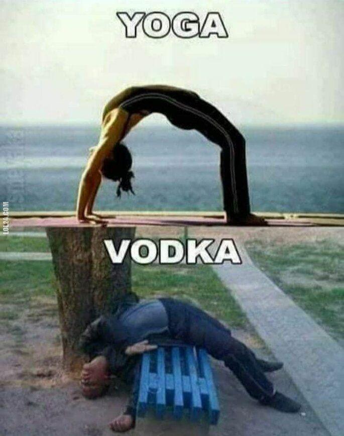 menel, żul : joga vs. alko