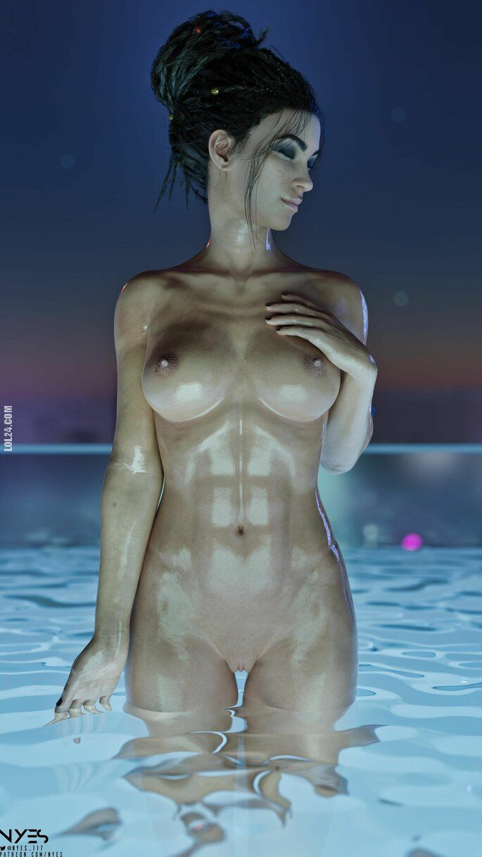NSFW : Panam relaxing at the pool Cyberpunk 2077