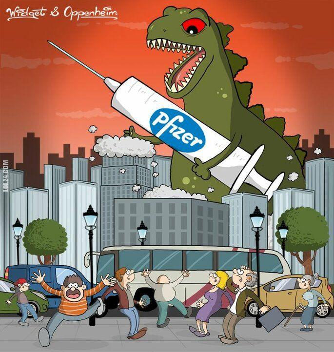 rysunek : Godzilla nadchodzi