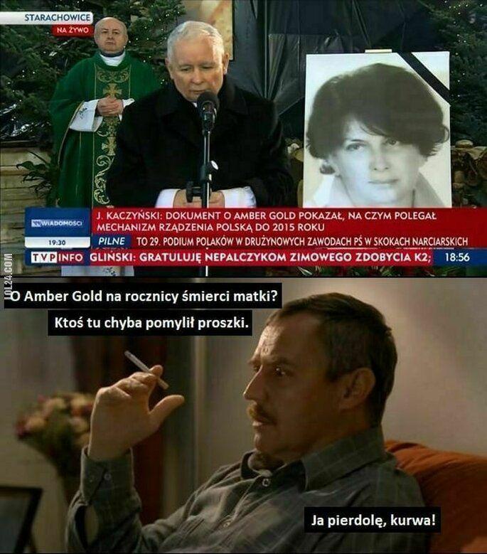 polityka : TVP na rocznicy śmierci matki Kaczyńskiego o Amber Gold