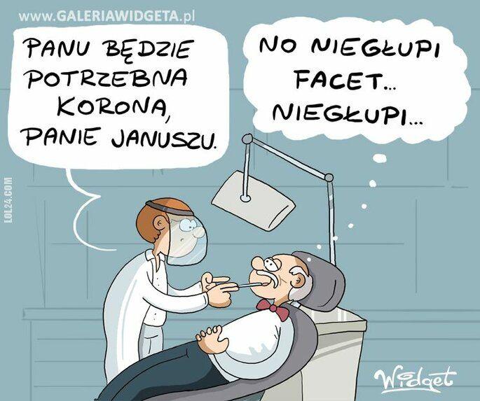 polityka : Janusz Korwin-Mikke u dentysty