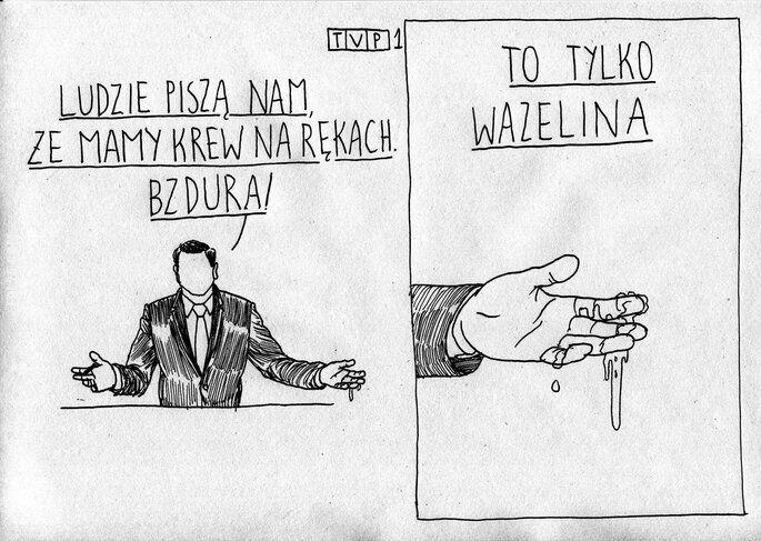satyra : TVP - Krew na rękach