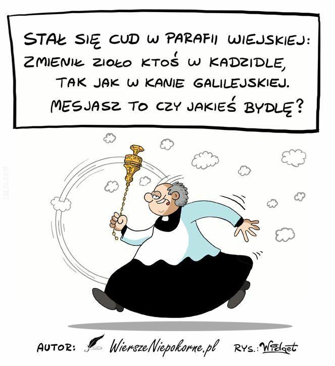 rysunek : Ksiądz z kadzidłem