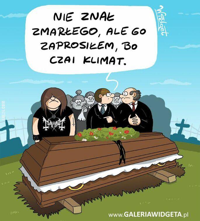 rysunek : Metal na pogrzebie