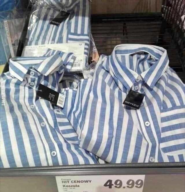 Głupota : Koszule w niemieckiej sieci sklepów Lild