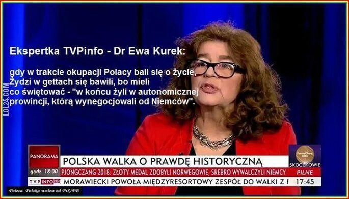 Głupota : Ekspertka Dr Ewa Kurek w TVPInfo o okupacji