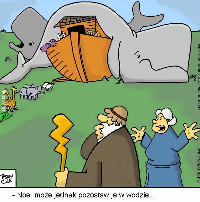 satyra : Wieloryby na Arce