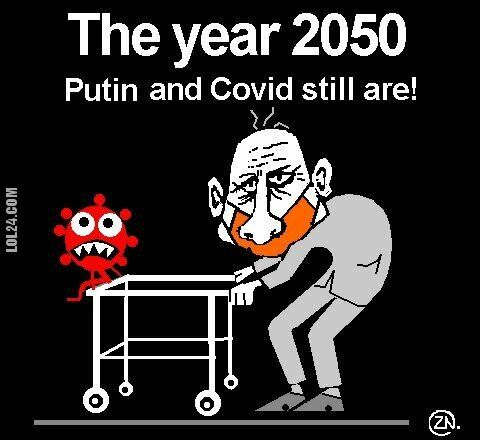 rysunek : Putin and Covid  humor