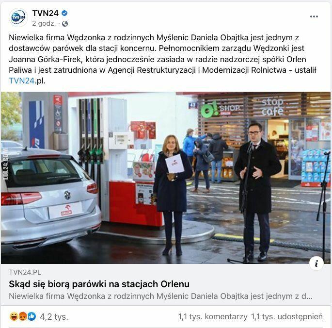 ciekawostka : Kto jest dostawcą parówek na stacjach Orlenu