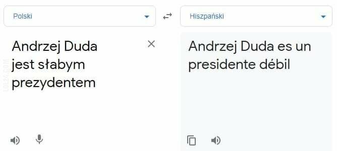 technologia : Prezydenckie tłumaczenie
