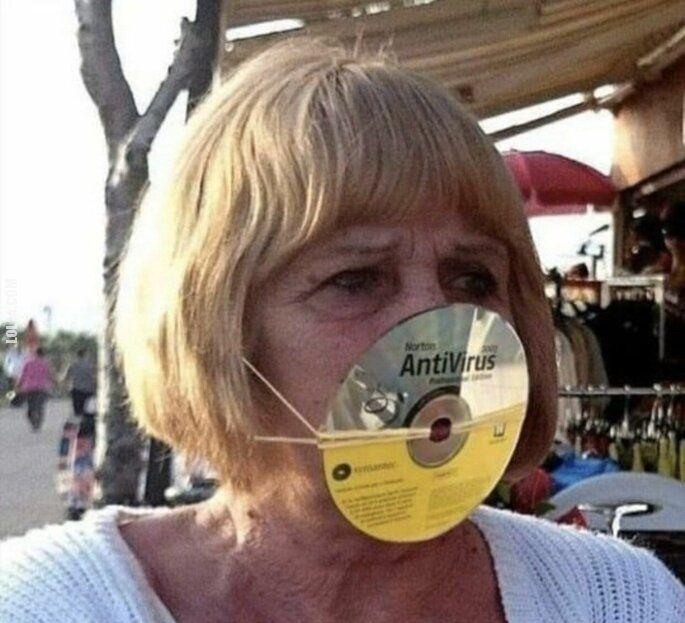 technologia : Maseczka antywirusowa