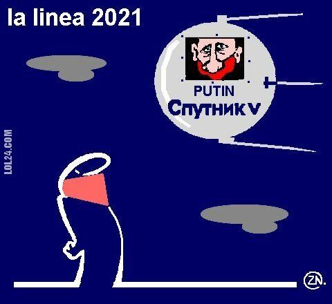 rysunek : the satire of the year 2021 covid