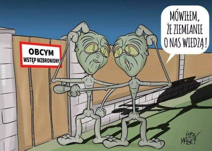 rysunek : Ta ziemska ksenofobia... ;)