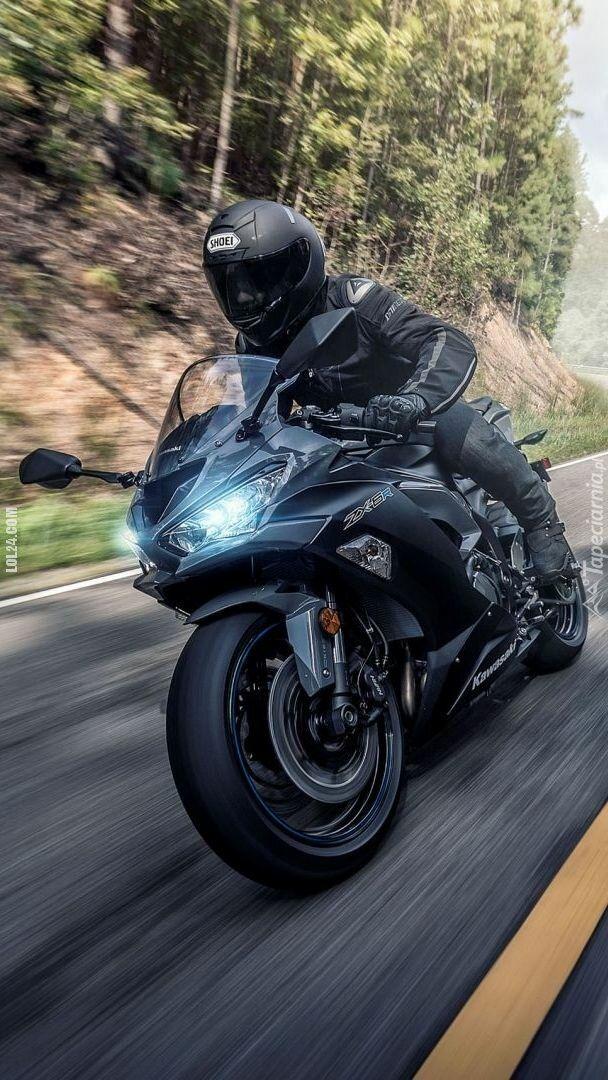 motoryzacja : Kawasaki in black