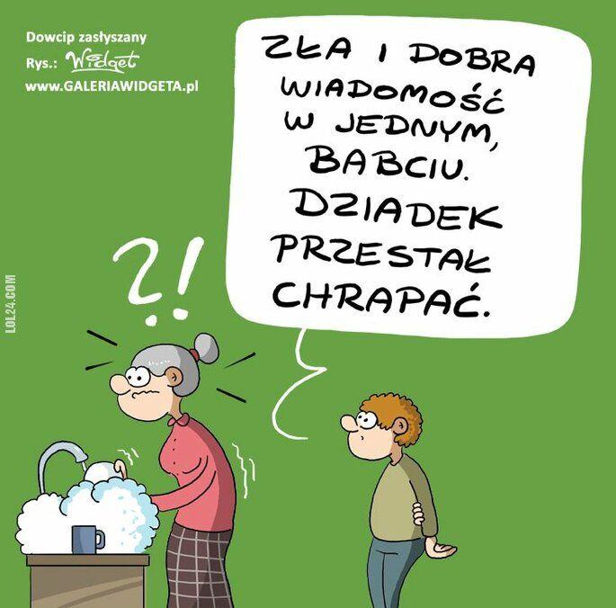 komiks : Wnuczek i babcia