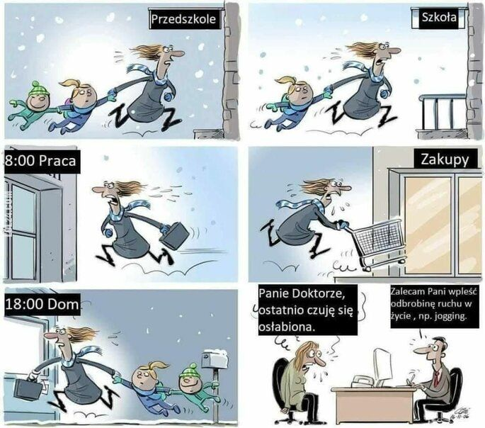 satyra : Z życia pracującej mamy