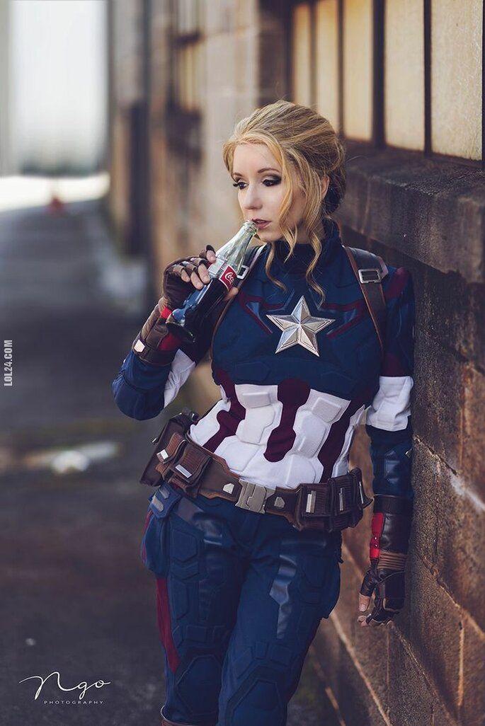 urocza, słodka : Pani Kapitan Ameryka
